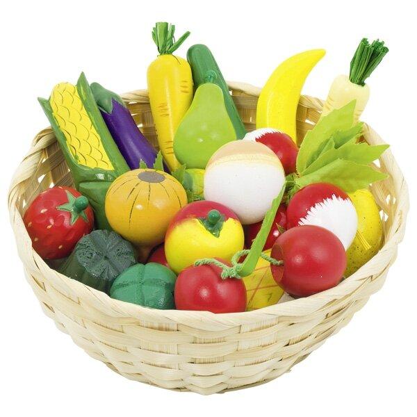 Mand met groente en fruit (21 delig)