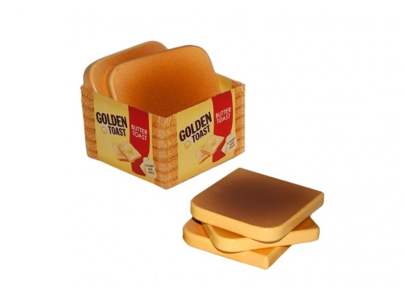 Set van 5 plakjes houten toast