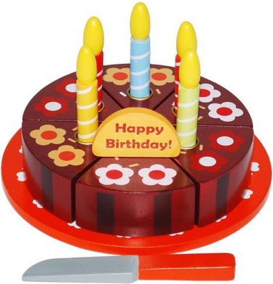 Verjaardagstaart om te snijden (14 delig)