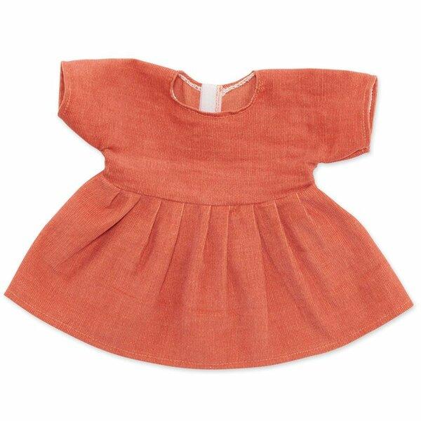 Corduroy jurk peach voor ByAstrup knuffelpoppen