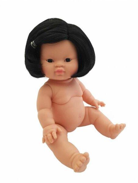 Gordis babymeisje Aziatisch met haar (34 cm)