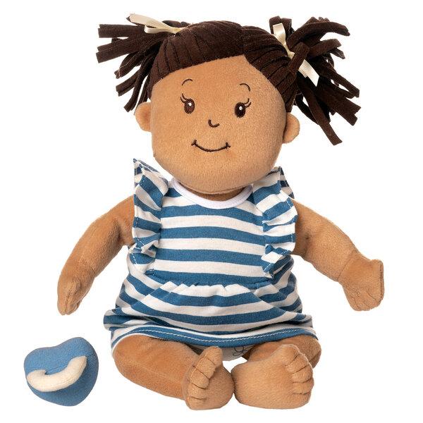 Stoffen pop Baby Stella Beige Doll met bruine staartjes (38 cm)