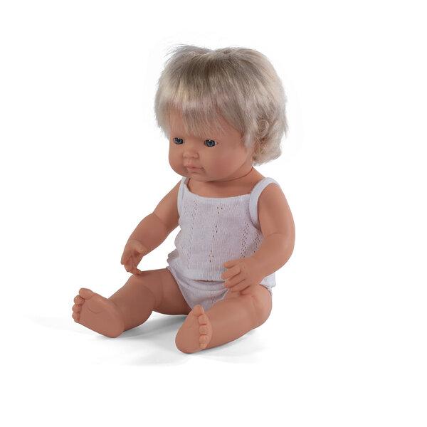 Blank babymeisje blond haar (38 cm)