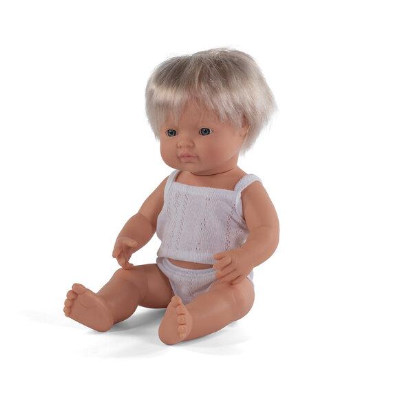 Blank babyjongen met blond haar (38 cm)