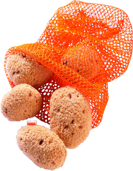 Stoffen aardappelen in net (6 delig)