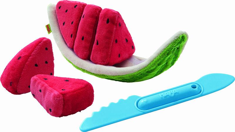 Watermeloen schijf van stof (7 delig)