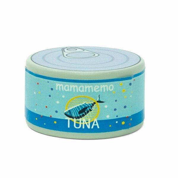 Houten blikje met tonijn