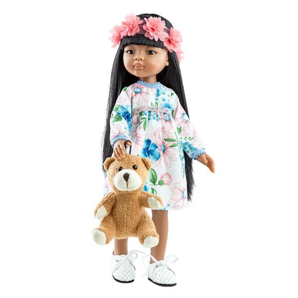 Amigas pop Meily met teddybeer (32 cm)