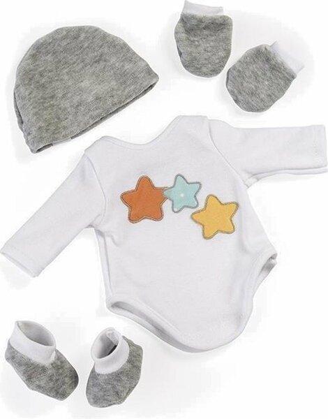 Babyuitzet grijs voor poppen 38 - 40 cm