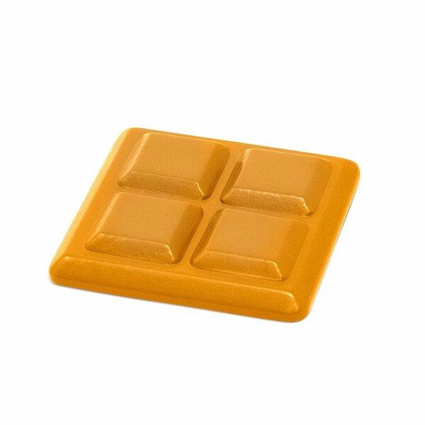 Houten stukje melkchocolade