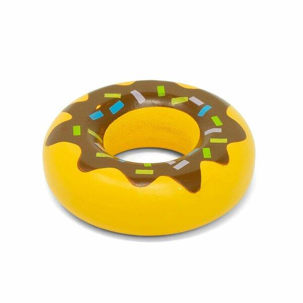 Houten Donut met chocolade glazuur