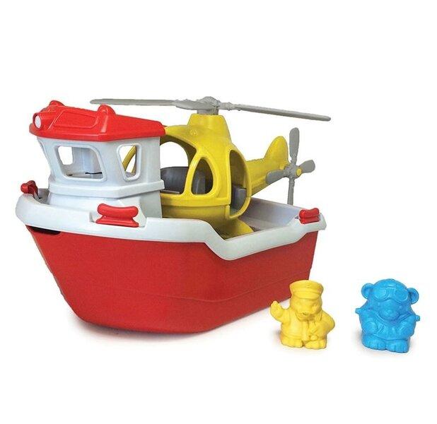Reddingsboot met helikopter
