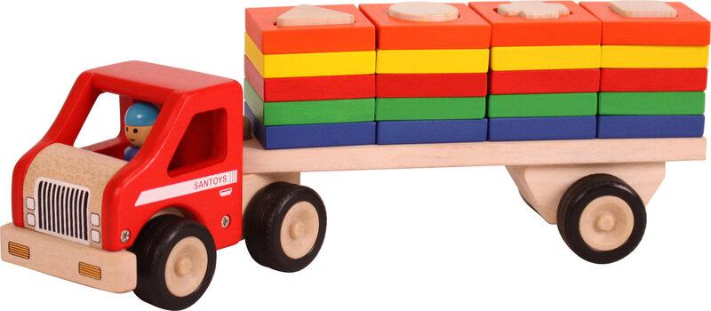 Truck met geometrische vormplaten