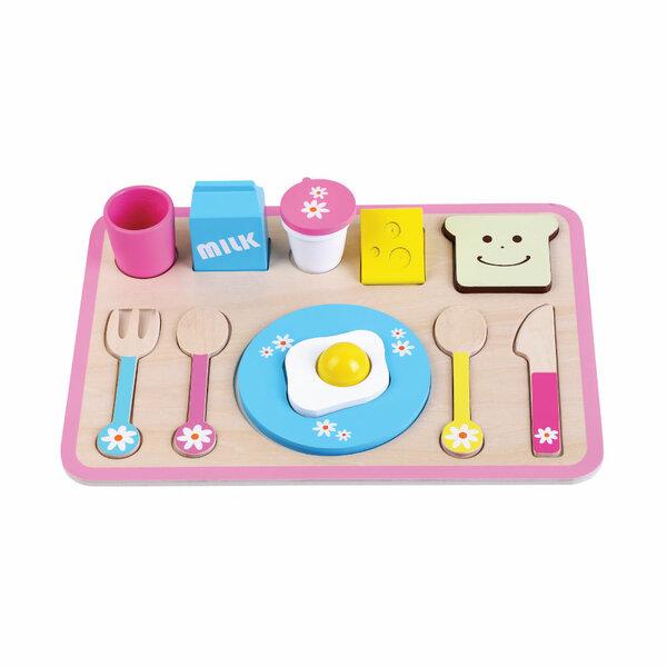 Ontbijtset en legpuzzel in 1