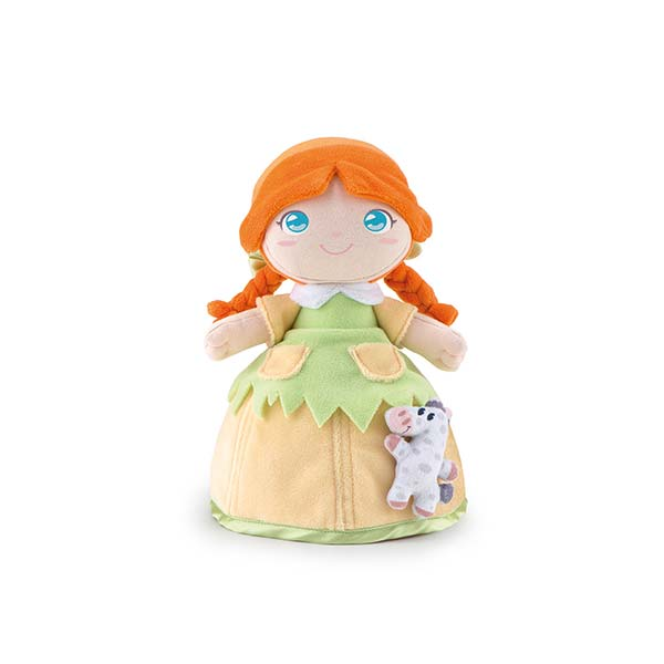Stoffen pop Polly met paard (24 cm)