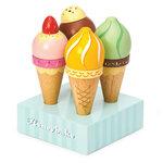 Houten ijsjes in serveerblok (4 stuks)