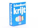 Schoolbordkrijt gekleurd (12 krijtjes)