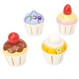 Houten Cupcakes (4 stuks)