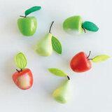 Appels en peren in houten kratje (7 delig)