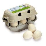 Eierdoosje met 6 witte eieren
