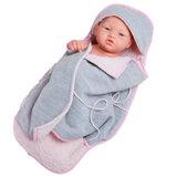 Pikolines babypop grijs/roze (36 cm)_