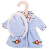 Kledingset 30 cm Blauwe jas met hoed Medium_