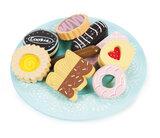 Houten schaaltje met koekjes (10 delig)