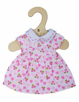 Kledingset 25 cm Roze jurk met hartjes Small
