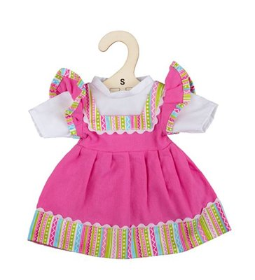 Kledingset 25 cm Roze jurk in dirndl stijl Small