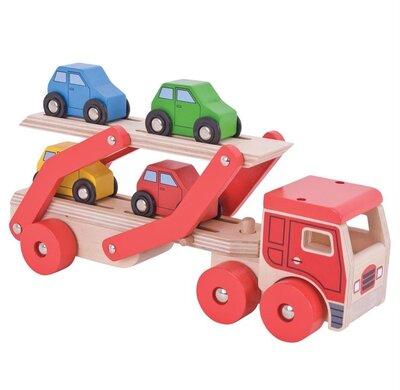 Autotransportvrachtwagen met 4 auto's
