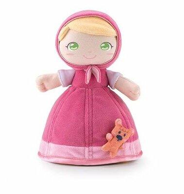 Stoffen pop Mary met teddybeer (24 cm)