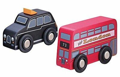 Engelse dubbeldekkerbus en Engelse taxi
