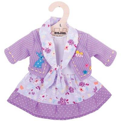 Kledingset 35 cm Lila jurk met vest Large