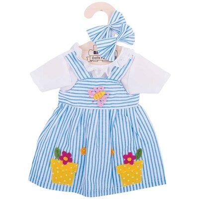 Kledingset 35 cm Blauw gestreepte jurk Large