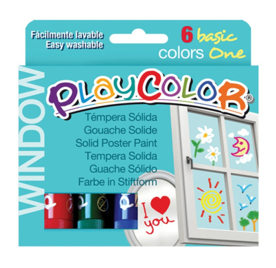 Playcolor Window 6 colours (6 stiften)