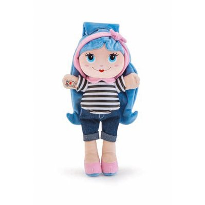 Stoffen pop Sweet Trudimia Tattoo Girl Blue Hair (28 cm)