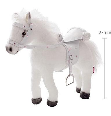 Kambaar paard wit met geluidchip (27 cm)