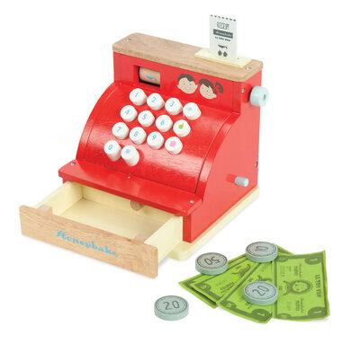 Robuuste rode houten speelkassa