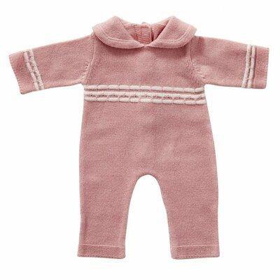Gebreid babypakje roze 35 cm