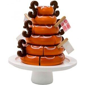 Traditionele Deense marsepein cake