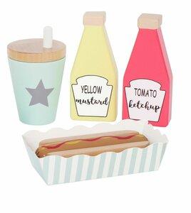Speelset hotdog (8 delig)