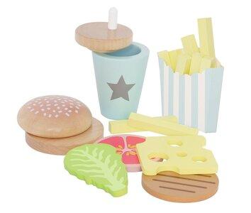 Speelset hamburger (8 delig)