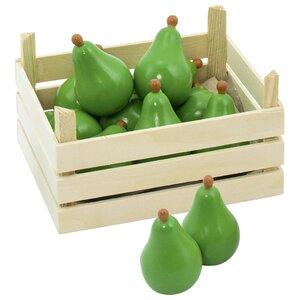 Houten opbergkrat met peren (10 delig)