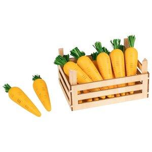 Houten opbergkrat met wortels (10 delig)