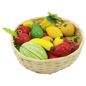 Mand met fruit (23 delig)