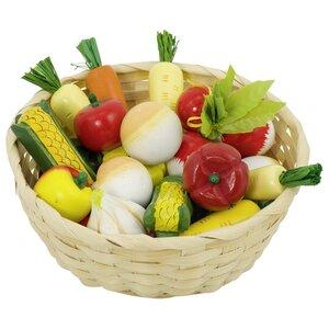 Mand met groente (17 delig)