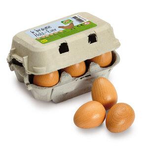 Eierdoosje met 6 bruine eieren
