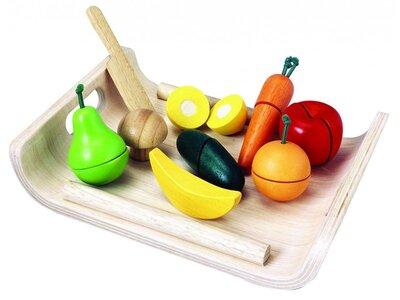 Assortiment groente en fruit snijset