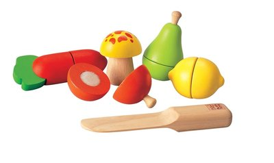 Groente en fruit speel snijset