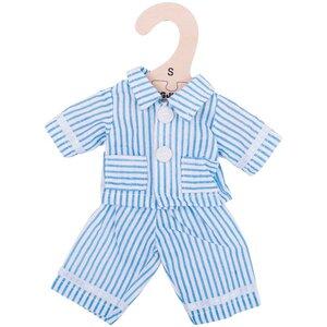 Kledingset 25 cm Blauw gestreepte pyjama Small